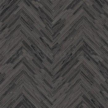 Luxusní vliesové  tapety na zeď Versace IV parketový obklad šedo-černý