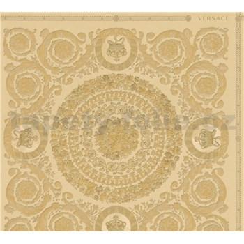 Luxusní vliesové  tapety na zeď Versace IV barokní ornamenty zlaté