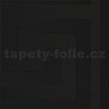 Luxusní vliesové  tapety na zeď Versace III řecký vzor černý