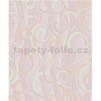 Vinylové tapety na zeď Vila moderní vzor béžový na růžovém podkladu