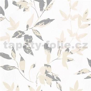 Vliesové tapety na zeď IMPOL Wall We Love 2 listy světle hnědo-stříbrné s metalickým odleskem