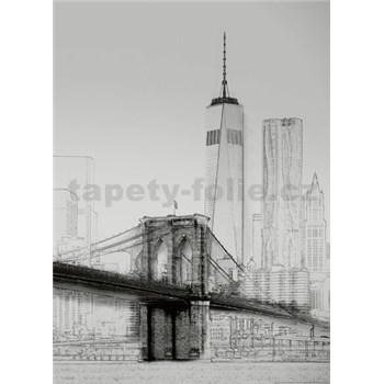 Fototapety umělecká ilustrace - New York rozměr 184 cm x 254 cm