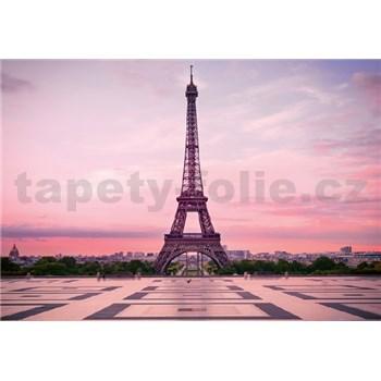Fototapety Eiffelova věž při úsvitu rozměr 368 cm x 254 cm