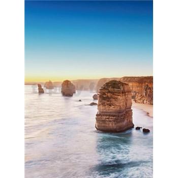Vliesové fototapety útes při západu slunce v Austrálii rozměr 184 x 254 cm - POSLEDNÍ KUSY
