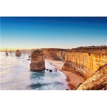 Vliesové fototapety útes při západu slunce v Austrálii rozměr 368 cm x 254 cm