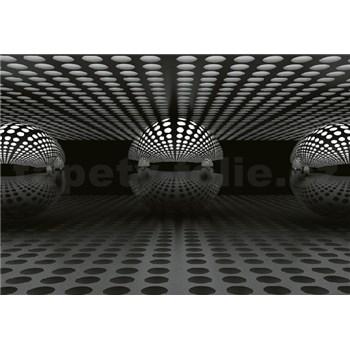 Fototapety 3D koule stříbrná rozměr 368 cm x 254 cm