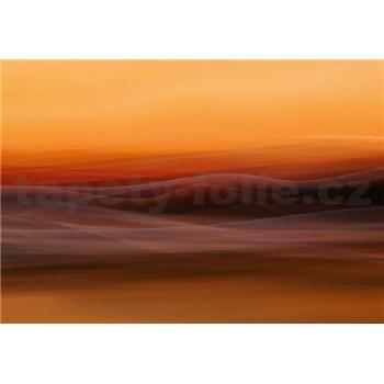 Vliesové fototapety oranžová mlha rozměr 368 cm x 254 cm