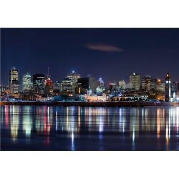 Vliesové fototapety noční Montreal rozměr 368 cm x 254 cm