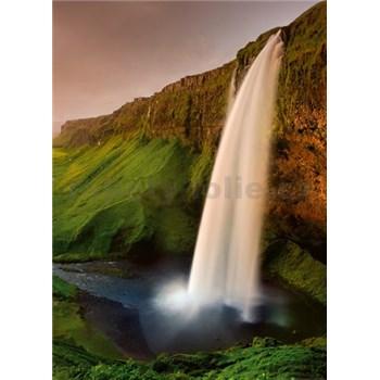 Vliesové fototapety Islandský vodopád rozměr 184 cm x 254 cm - POSLEDNÍ KUSY