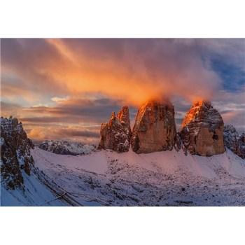 Vliesové fototapety Italské horské vrcholy rozměr 368 cm cm x 254 cm