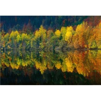 Fototapety podzimní lesní jezero rozměr 368 cm x 254 cm