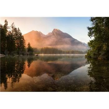 Vliesové fototapety horské jezero rozměr 368 cm cm x 254 cm