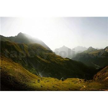 Vliesové fototapety švýcarské hory rozměr 368 cm x 254 cm