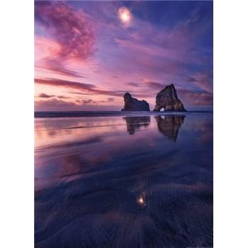 Vliesové fototapety zátoka při západu slunce rozměr 184 x 254 cm