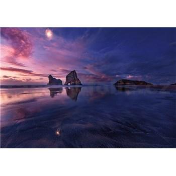 Vliesové fototapety zátoka při západu slunce rozměr 368 cm x 254 cm
