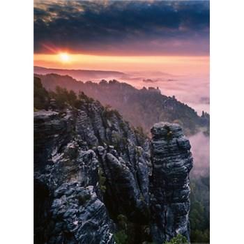 Fototapety východ slunce ve skalách rozměr 184 cm x 254 cm