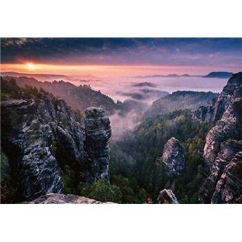 Fototapety východ slunce ve skalách rozměr 368 cm x 254 cm