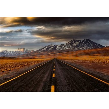 Vliesové fototapety cesta v Atacamě rozměr 368 cm x 254 cm