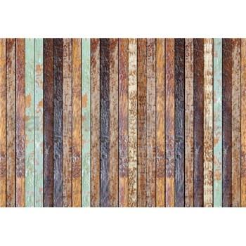 Vliesové fototapety vintage dřevěná stěna rozměr 368 cm x 254 cm