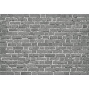 Fototapety cihlová stěna černá rozměr 368 cm x 254 cm