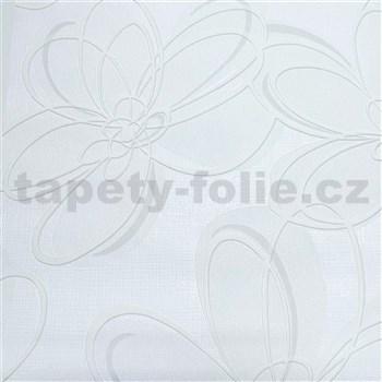 Vliesové tapety na zeď WohnSinn květy bílé