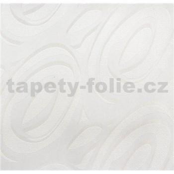 Vinylové tapety na zeď WohnSinn - abstraktní vzor bílý