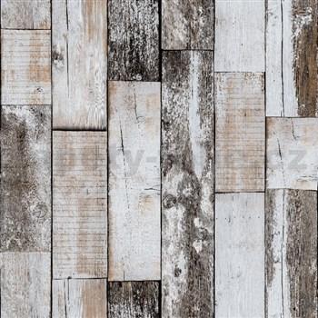 Vliesové tapety na zeď IMPOL dřevo s patinou