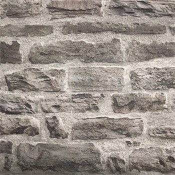 Vliesové tapety IMPOL Wood´n Stone 2 cihlová stěna černo-šedá