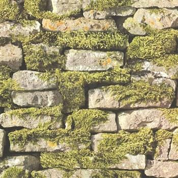 Vliesové tapety na zeď IMPOL Naturals ukládaný kámen s mechem