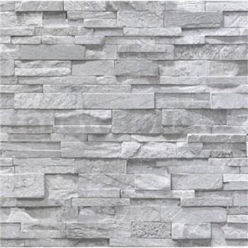 Papírové tapety na zeď Sweet & Cool kameny šedé