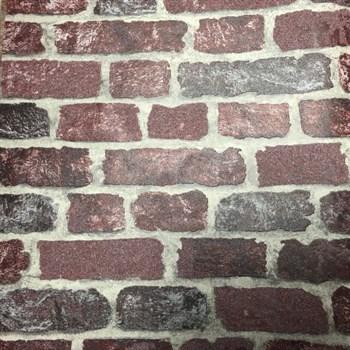Vliesové tapety na zeď Brique 3D cihly červené s výraznou plastickou strukturou