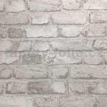 Vliesové tapety na zeď cihly bílé