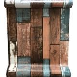 Samolepící fólie barevné dřevo s patinou 45 cm x 10 m