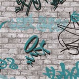 Tapety na zeď IMPOL Young Spirit - Graffiti tyrkysové