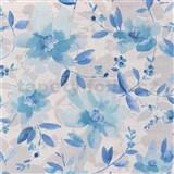 Vliesové tapety na zeď Allure květy modré