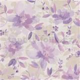 Vliesové tapety na zeď Allure květy fialové