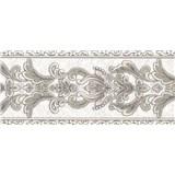 Vliesové bordury ornamenty hnědé s třpytkami rozměr 5 m x 12,5 cm - POSLEDNÍ KUS