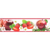 Samolepící bordura ovoce červené 5 m x 8,3 cm