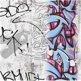 Papírové tapety na zeď Boys & Girls graffiti barevné
