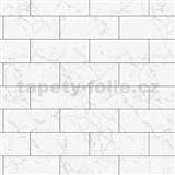 Dekorativní obklad na stěnu Ceramics mramorový obklad s šedou spárou šířka 67,5 cm x 20 m