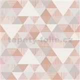Vliesové tapety na zeď Collection geometrický vzor moderní růžový