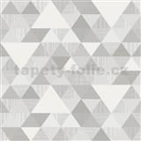 Vliesové tapety na zeď Collection geometrický vzor moderní šedý