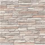 Vliesové tapety na zeď kámen ukládaný béžový