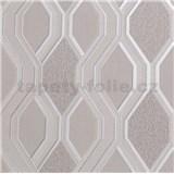 Vinylové tapety na zeď geometrický vzor šedý