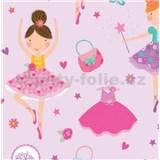Samolepící tapety panenky růžové 45 cm x 15 m