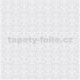 Samolepící tapety transparentní ornamenty šedé Alba 45 cm x 2m (cena za kus)