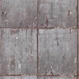 Vliesové tapety IMPOL Instawalls 2 betonové panely šedo-měděné