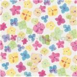 Vliesové tapety na zeď Prime Time II drobné květiny modro-hnědé - POSLEDNÍ KUSY