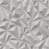 Vliesové tapety na zeď Mix Up 3D jehlany šedé - POSLEDNÍ KUSY