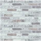 Vliesové tapety na zeď Imitations cihla šedo-bílá